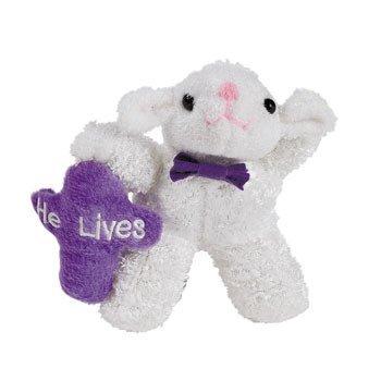 FX He Lives Plush Easter Lambs (12 Pack) Bulk