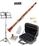 Hawk Red Bb Clarinet Package with Case Reeds Music Stand and Cleaning Kit WD-C213-RD-PACK