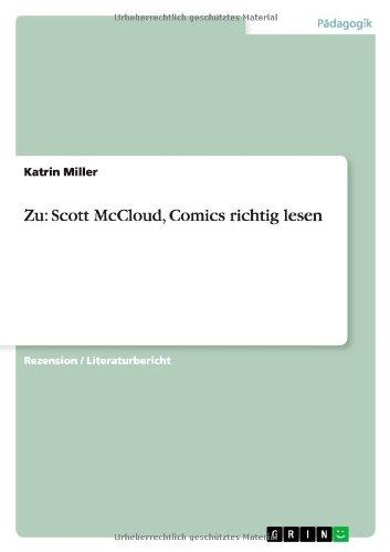 Zu: Scott McCloud, Comics richtig lesen (German Edition)