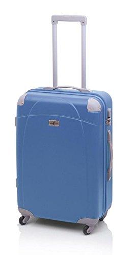 Queralt - Maleta rígida john travel tiara , talla m, color azul: Amazon.es: Equipaje