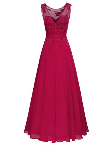 Vino Ceremonia Fiesta de GRACE Boda Maxi para Mujer Largo KARIN para Elegante Vestido vw1qB7pv