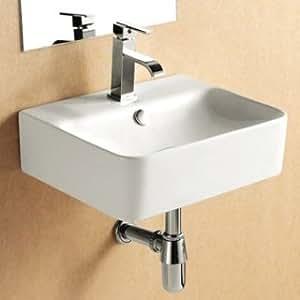 Malita rectangular para pared soporte y encimera de lavabo for Amazon lavabos