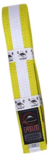 Fuji BJJ Belt, Yellow/White, ()