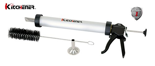 KITCHENER- Jerky Gun with 2 Nozzles (Aluminum)