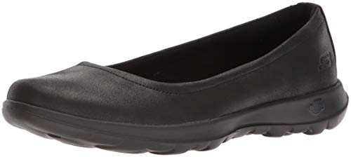 Bbk Negro Cordones sin Zapatillas Go Mujer Gem Skechers Walk Lite para Black qwBPZ4S
