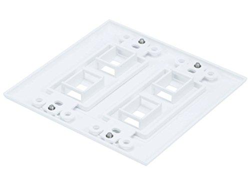 Amazon Com Ce 4 Pcs 2 Gang Wall Plate For Keystone 4 Hole White
