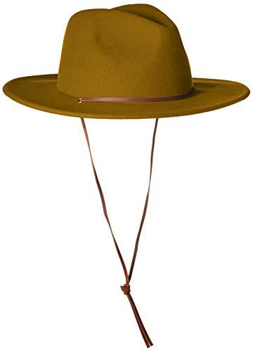 Brixton Men's Field Wide Brim Felt Fedora HAT, Maize, XS (Xs Hat Fedora)