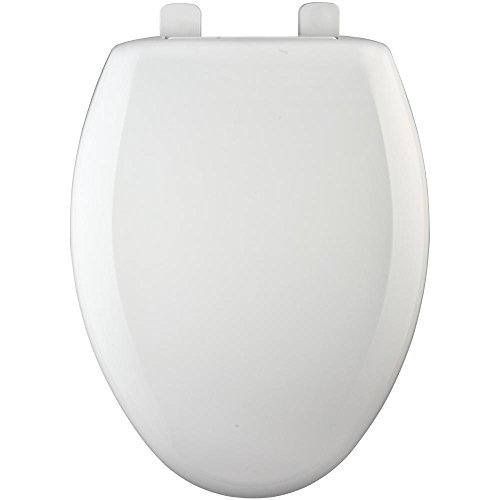 Bemis 7900TDGSL 006 Hospitality Elongated Closed Front Heavy-Duty Plastic Toilet Seat with DuraGuard Antimicrobial Built-In Protection & Whisper Close Hinges, Bone by Bemis