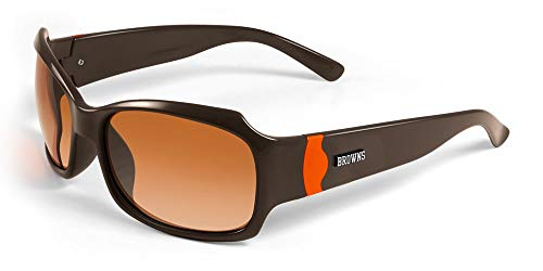 - NFL Cleveland Browns Bombshell Sunglasses with Bag, Brown/Orange