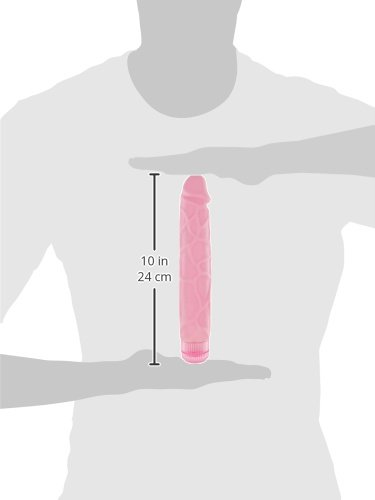 The Tower 9.5 Inch Vibrating Dildo, Pink
