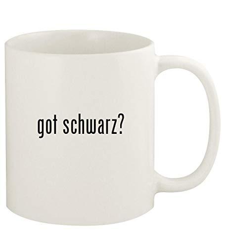 got schwarz? - 11oz Ceramic White Coffee Mug Cup, White (- Schwarz-linse)