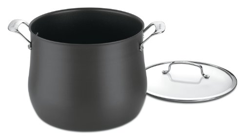 Quart Stock Pot Cover - Cuisinart 6466-26 Contour Hard Anodized 12-Quart Stockpot with Cover