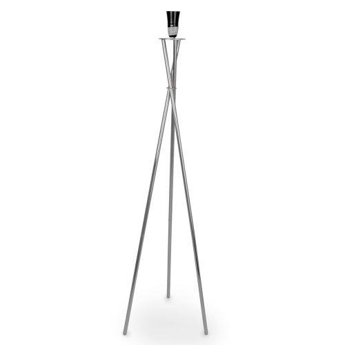 stunning modern silver chrome metal tripod floor lamp base - Floor Lamp Base