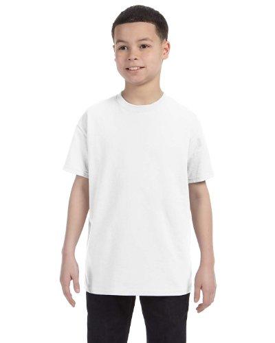 Gildan Heavy Cotton Youth 5.3 oz. T-Shirt  Pack of 10- WHITE