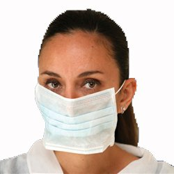 Ear Loop Face Mask, Bagged, White, 50/bag