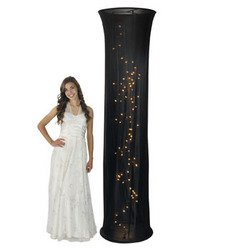 Light-Up Black Fabric Column - Solid Color Party Supplies & Solid Color Party Decorations by Oriental Trading Company