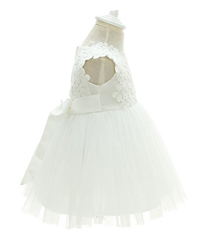 Greatop Baby Girls Dress Christening Baptism Party Formal Dress(White(Style 2),18M/15-18Month) by Greatop (Image #3)