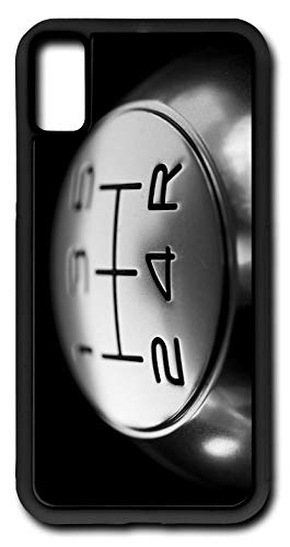 iPhone X Case Five Speed Gear Shift Knob Shifter Customizable by TYD Designs in Black Plastic