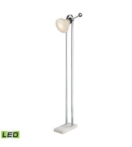 Amazon.com: Lámparas de pie 1 luz con blanco y níquel pulido ...