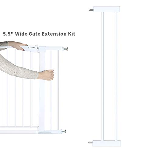EAVSOW Steel Pet Gate Extension kit;Pet Safety Gate Extension Measures -White