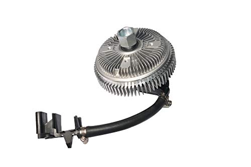 Electronic Radiator Fan Clutch - with Harness - Fits Chevy Trailblazer 2002-2009, EXT, GMC Envoy, Buick Rainier, Isuzu Ascender, Bravada, Saab 9-7x - Replaces 25790869, 622-001, 15-40133, 15293048 ()