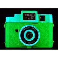 HolgaGlo 120N Plastic Lens Medium Format Camera, Neon Green