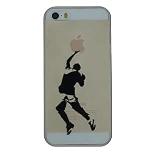 ZL The Sportsman Pattern PC Hard Transparent Back Cover Case for iPhone 5/5S