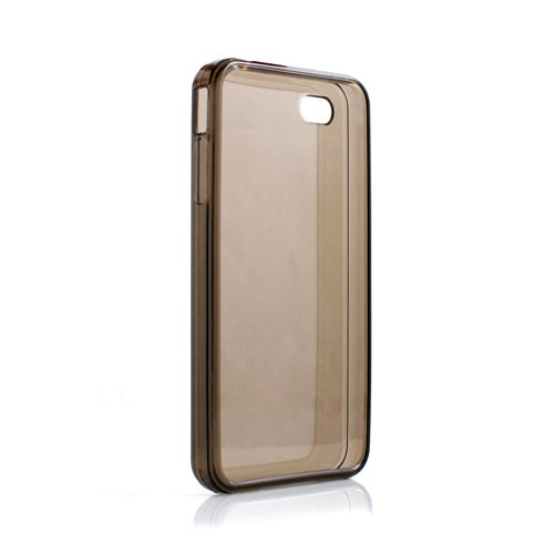 Silicone case system-s couverture de peau étui de protection noir transparent pour apple iPhone 4S