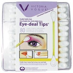 Victoria Vogue #503 Double Paddle Eye Tips 80 Ct, used for sale  Delivered anywhere in USA