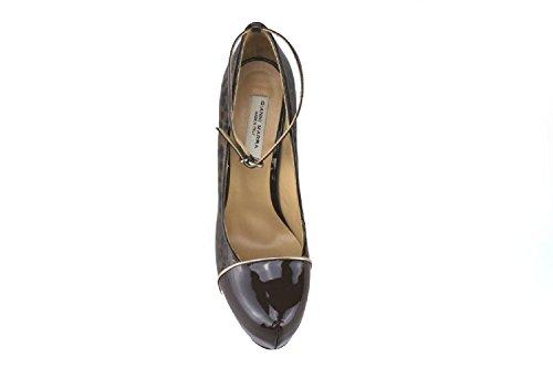 GIANNI MARRA AJ288 Zapatos de Salón Mujer 40 EU Charol Marrón Oscuro