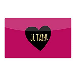 "KESS InHouse Leah Flores ""I Love You in Francias"" Je T'aime Artistic Aluminum Magnet, 2"" by 3"", Multicolor"