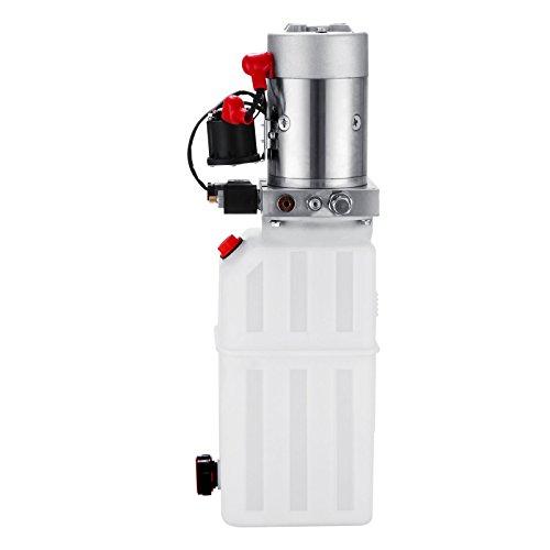 Happybuy Hydraulic Pump 12V DC Single Acting Hydraulic Power Unit 8 Quart Plastic Tank Hydraulic Pump Power Unit for Dump Trailer Car Lifting (8 Quart Single Acting Plastic) by Happybuy (Image #4)