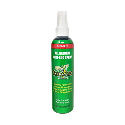 Skedattle Natural Insect Repellent Made with Essential Oils - DEET Free, Natural Bug Spray 8 oz