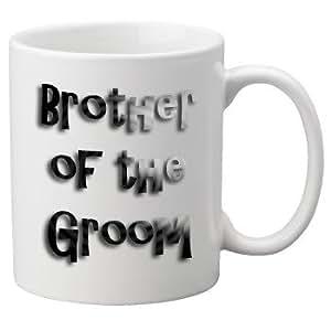 Hermano del novio - 11 oz taza, gran taza de la novedad, celebrar su boda en estilo. Gran boda Yousave.