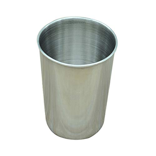 lightclub Portable Food Grade Stainless Steel Drink Glass Beer Tea Coffee Whiskey Tooth Mug Outdoor Travel Cup Silver