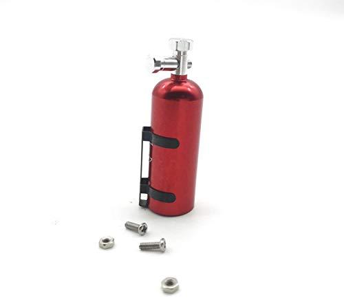 RC Car Aluminum ''Nitrous Oxide Pressure Bottle Dummy(RED) Simulation Metal Mini decorationToy for CC01 / SCX10 / TRX-4 / D90 RC Crawler Car