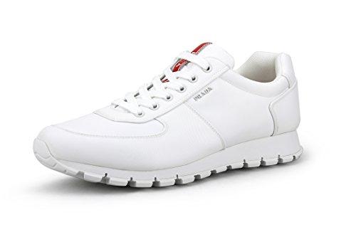 Prada Men's Nylon Tech Trainer Sneaker, White 4E2942 (12 US / 11 ()
