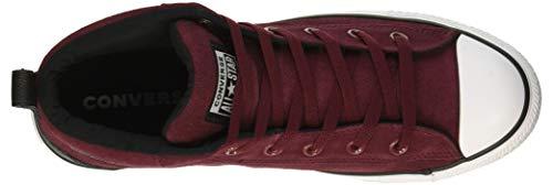 Scarpe 613 Converse da ginnastica nero Ctas miste Street multicolore adulti scuro bordeaux per Mid bianco qqw1FS