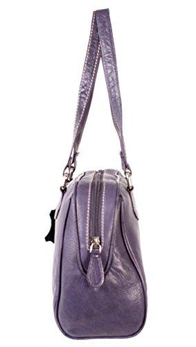 Oxbridge Satchel Shop , Damen Rucksackhandtasche violett medium