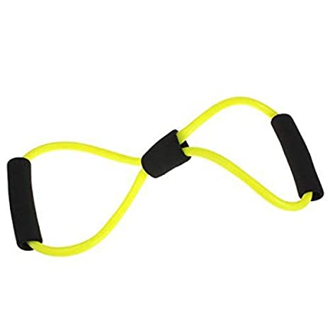 AimdonR 8 Tipo Expansion Rope,8 Tipo Muscle Training Expansion Rope Resistance Band Elastic Chest Yoga Workout Tubing