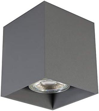 Bianco QAZQA Faretto qubo Cubo//Quadrato Max Alluminio 1 x 50 Moderno