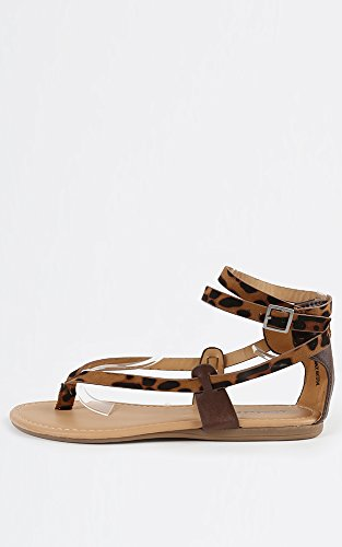 Dollhouse Hipp Leopard Ankle Strap Sandals LEOPARD 8.5 New: In Box