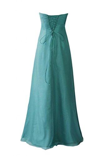 Sunvary Turquoise da damigella semplice Straplesss d'onore abiti lunghe 0r6PA0