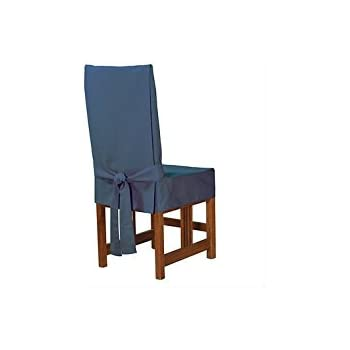 Sure Fit Cotton Duck Shorty Dining Room Chair Cover Bluestone