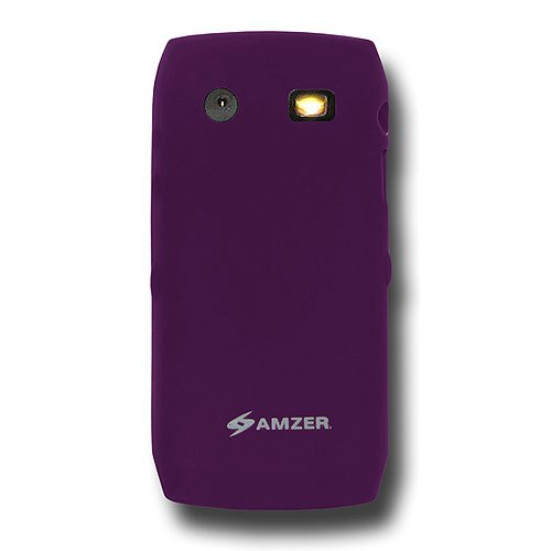 Amzer Silicone Skin Jelly Case for BlackBerry Pearl 9100/9105 - Purple ()