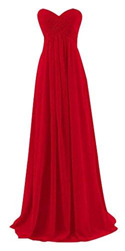 Kleid Bandeau Rot Drasawee Rot Damen AT6wxH