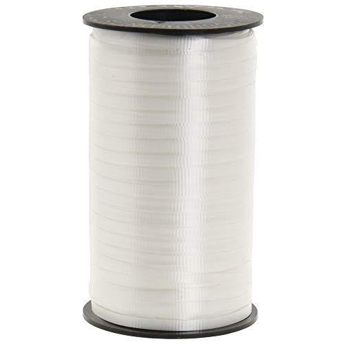 Berwick 1 01 Splendorette Crimped Curling Ribbon, 3/16-Inch Wide by 500-Yard Spool, White