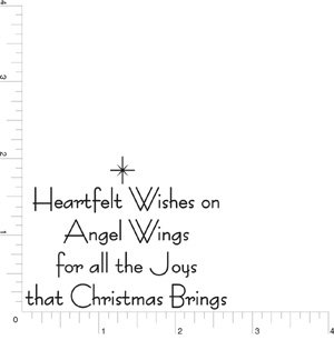 Heartfelt Wishes Christmas Greeting Rubber Stamp By DRS Designs