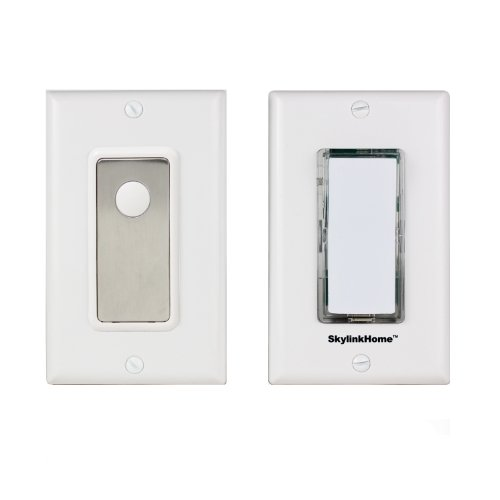 SK-8A Wireless DIY 3-Way On Off Anywhere Lighting Home Control Wall Switch Set with Snap On Cover - No neutral wire required.