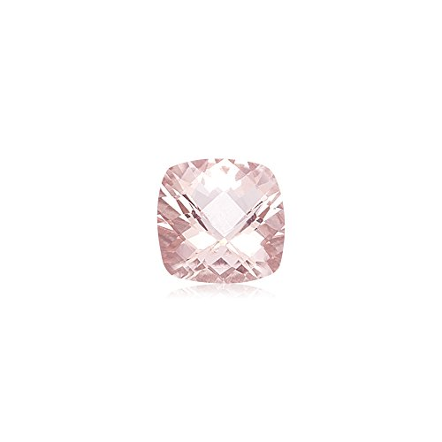 Mysticdrop 1.61-2.04 Cts of 8x8 mm AAA Cushion Checker Board Morganite (1 pc) Loose Gemstone